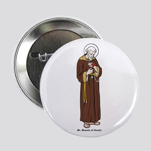 """St. Francis of Assisi 2.25"""" Button (10 pack)"""