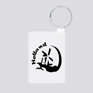 Holland Aluminum Photo Keychain