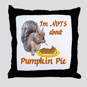 Pumpkin Pie Squirrel Throw Pillow