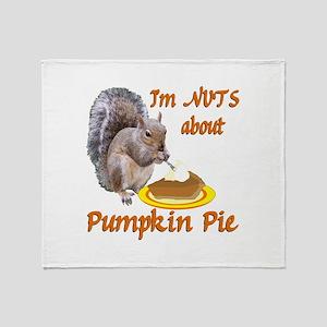 Pumpkin Pie Squirrel Throw Blanket