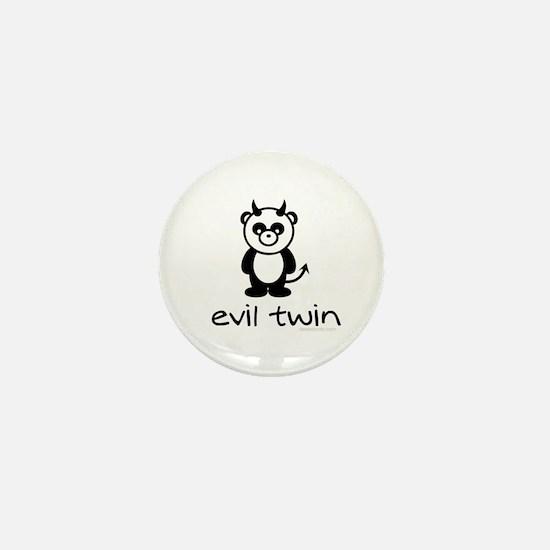 evil twin (panda design) Mini Button