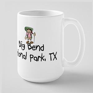 Hike Big Bend Nat Park (Girl) Large Mug