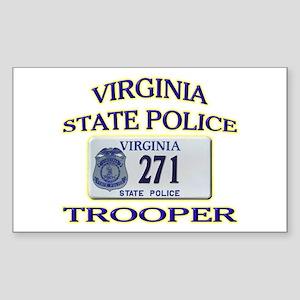 Virginia State Police Sticker (Rectangle)