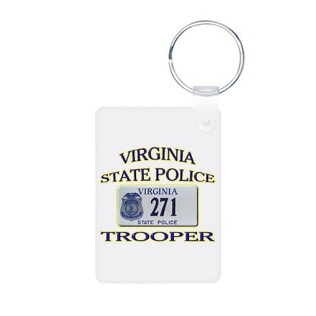Virginia State Police Aluminum Photo Keychain