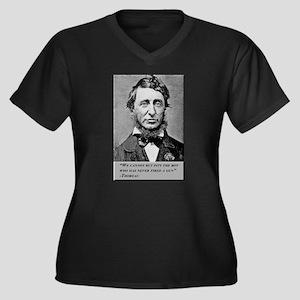 Thoreau on Guns Women's Plus Size V-Neck Dark T-Sh