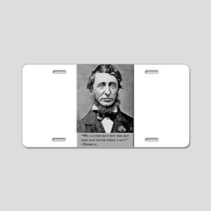 Thoreau on Guns Aluminum License Plate