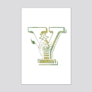 Initial (letter) Y Mini Poster Print