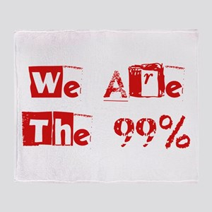 We Are The 99% #2 Throw Blanket