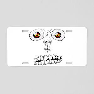 Spooky Face Aluminum License Plate