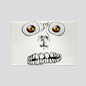 Spooky Face Rectangle Magnet