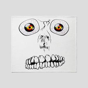 Spooky Face Throw Blanket