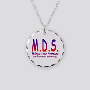 Great Dane Necklace Circle Charm