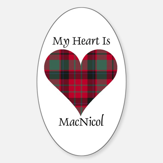 Heart - MacNicol Sticker (Oval)