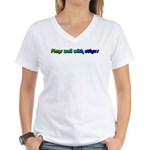 Plays with others Women's V-Neck T-Shirt