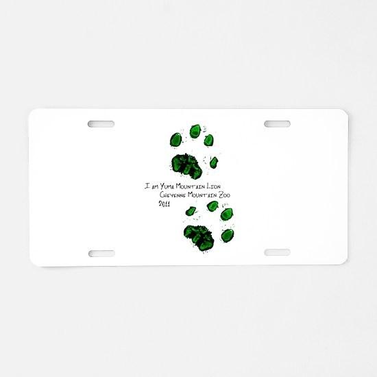 Cute Mountain lion Aluminum License Plate
