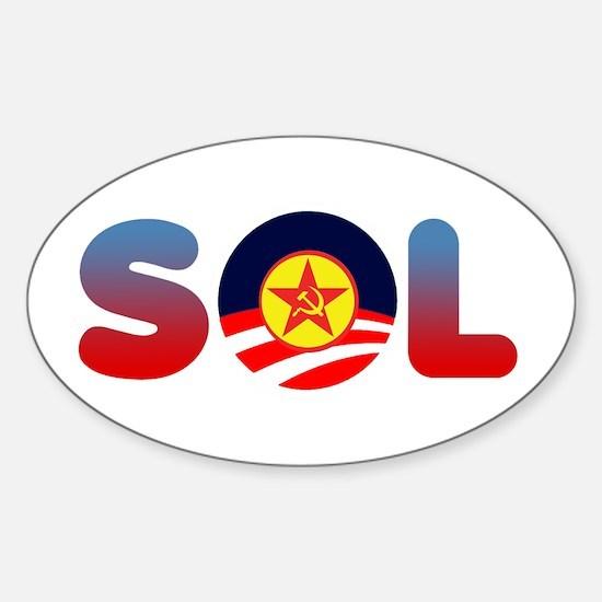 Unique Girl anti obama Sticker (Oval)