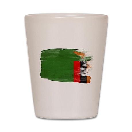 Zambia Flag Shot Glass