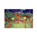The Fairy Circus Rectangle Magnet