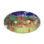 The Fairy Circus 38.5 x 24.5 Oval Wall Peel