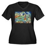 The Fairy Circus Women's Plus Size V-Neck Dark T-S