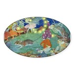 The Fairy Circus Sticker (Oval)