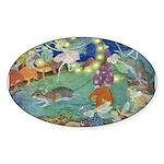 The Fairy Circus Sticker (Oval 10 pk)