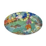The Fairy Circus 38.5 x 24.5 Oval Wall Peel