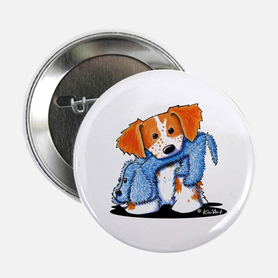 """Dog Eat Dog Brittany 2.25"""" Button"""