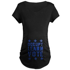 occupy learn vote blue T-Shirt