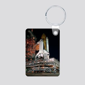 STS-28 Rollout Aluminum Photo Keychain