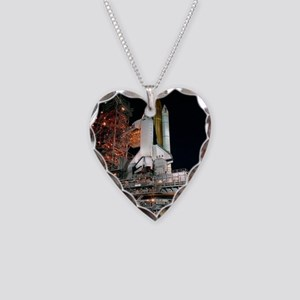 STS-28 Rollout Necklace Heart Charm