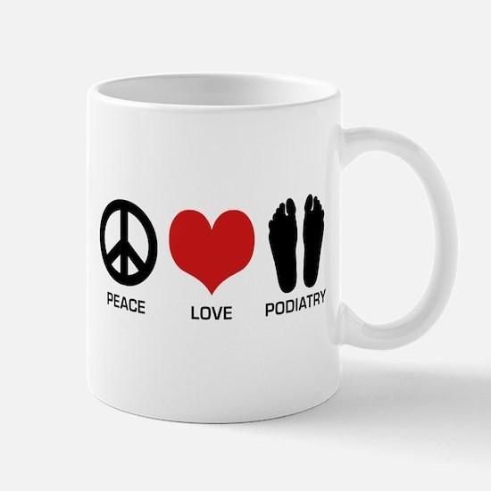 Peace Love Podiatry Mug