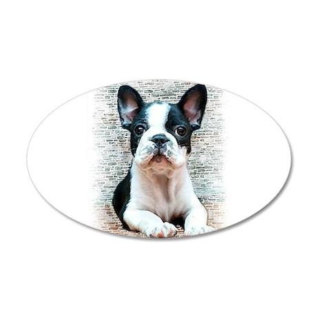 French Bulldog 22x14 Oval Wall Peel & French Bulldog Wall Decals - CafePress