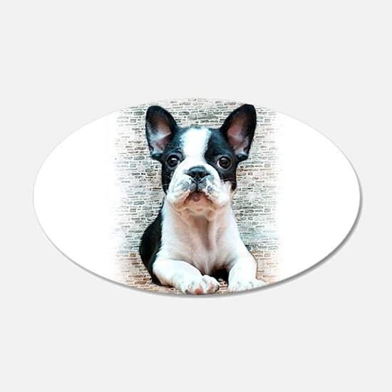 French Bulldog 22x14 Oval Wall Peel