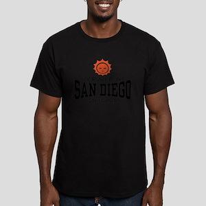 San Diego Men's Fitted T-Shirt (dark)