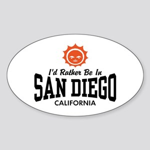 San Diego Sticker (Oval)