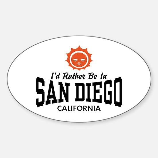 San Diego Sticker (Oval)