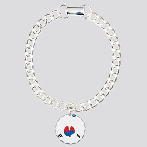 South Korea Soccer Charm Bracelet, One Charm
