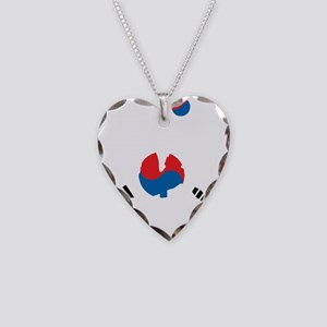 South Korea Soccer Necklace Heart Charm
