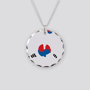 South Korea Soccer Necklace Circle Charm