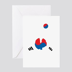 South Korea Soccer Greeting Card