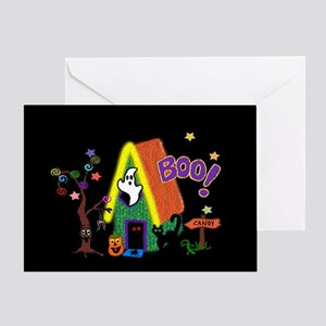 Boo House Greeting Card