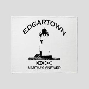 Edgartown MA - Lighthouse Design. Throw Blanket