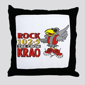 Rock 1025 - The Crow Throw Pillow