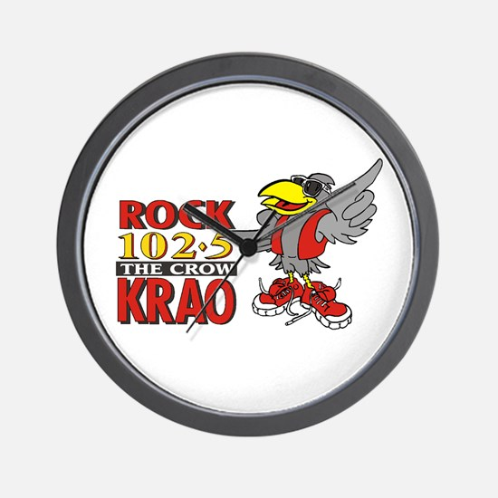 Rock 1025 - The Crow Wall Clock