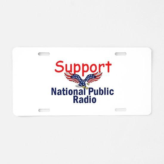Support NPR Aluminum License Plate