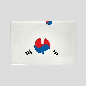 South Korea Soccer Rectangle Magnet