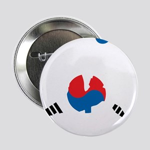 "South Korea Soccer 2.25"" Button"