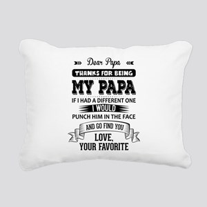 Dear Papa, Love, Your Favorite Rectangular Canvas
