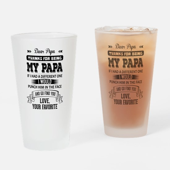 Dear Papa, Love, Your Favorite Drinking Glass